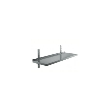 Rostfri vägghylla - 30 cm djup